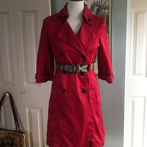 Old Navy classic red trench coat sz XS